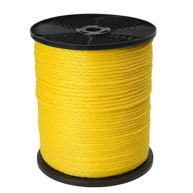 3 8 x 1000' Yellow Hollow Braid Polypropylene Rope -63450