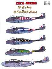 Euro Decals 1/48 DE HAVILLAND VENOM British Jet Fighter