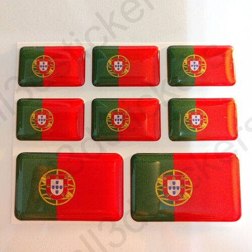 Sticker Portugal Resin Domed Stickers Portugal Flag 3D Vinyl Adhesive Decal Car