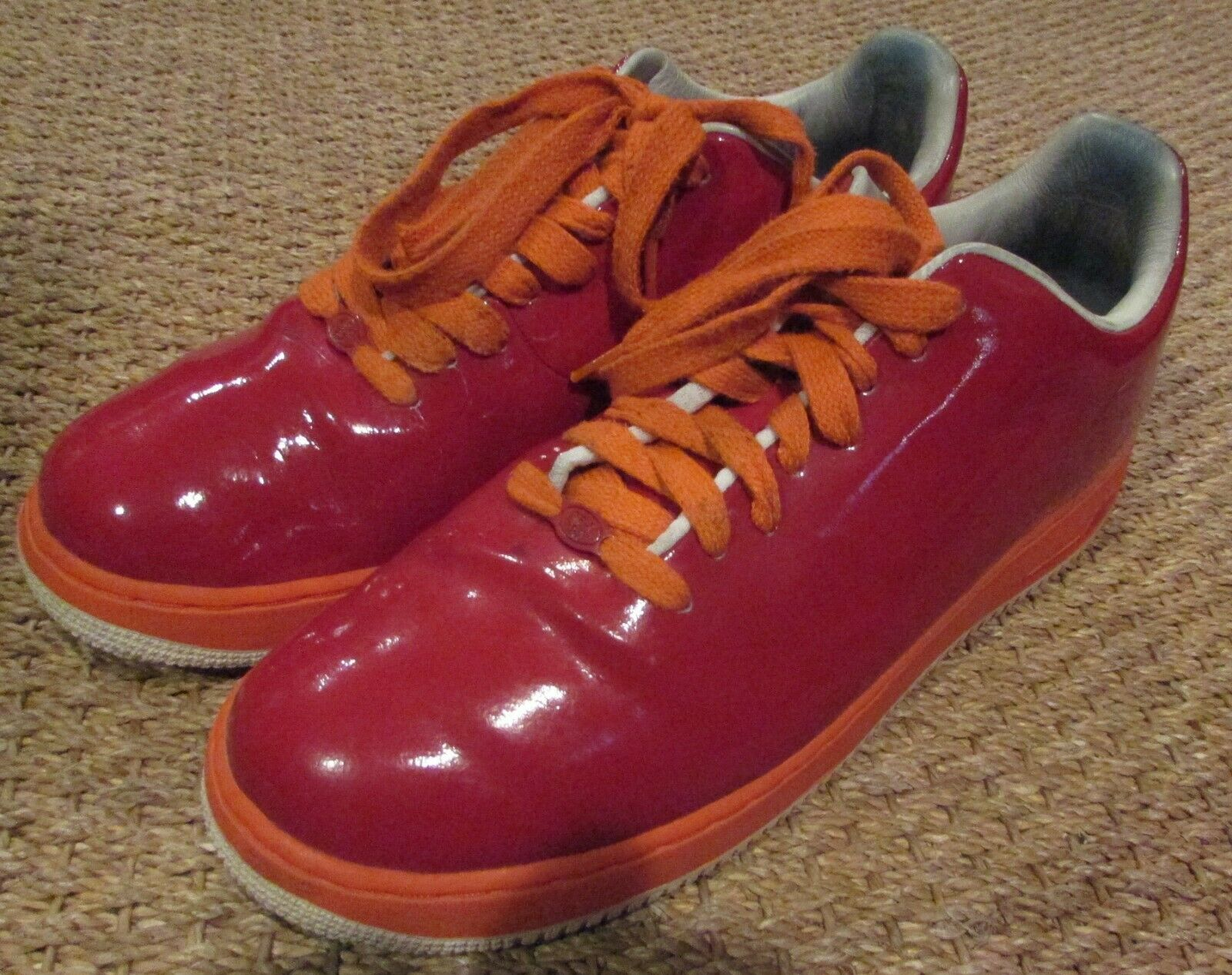2006 Nike Air Force 1 Supreme Varsity Red  313644-681 No Swoosh Size 12 AF1