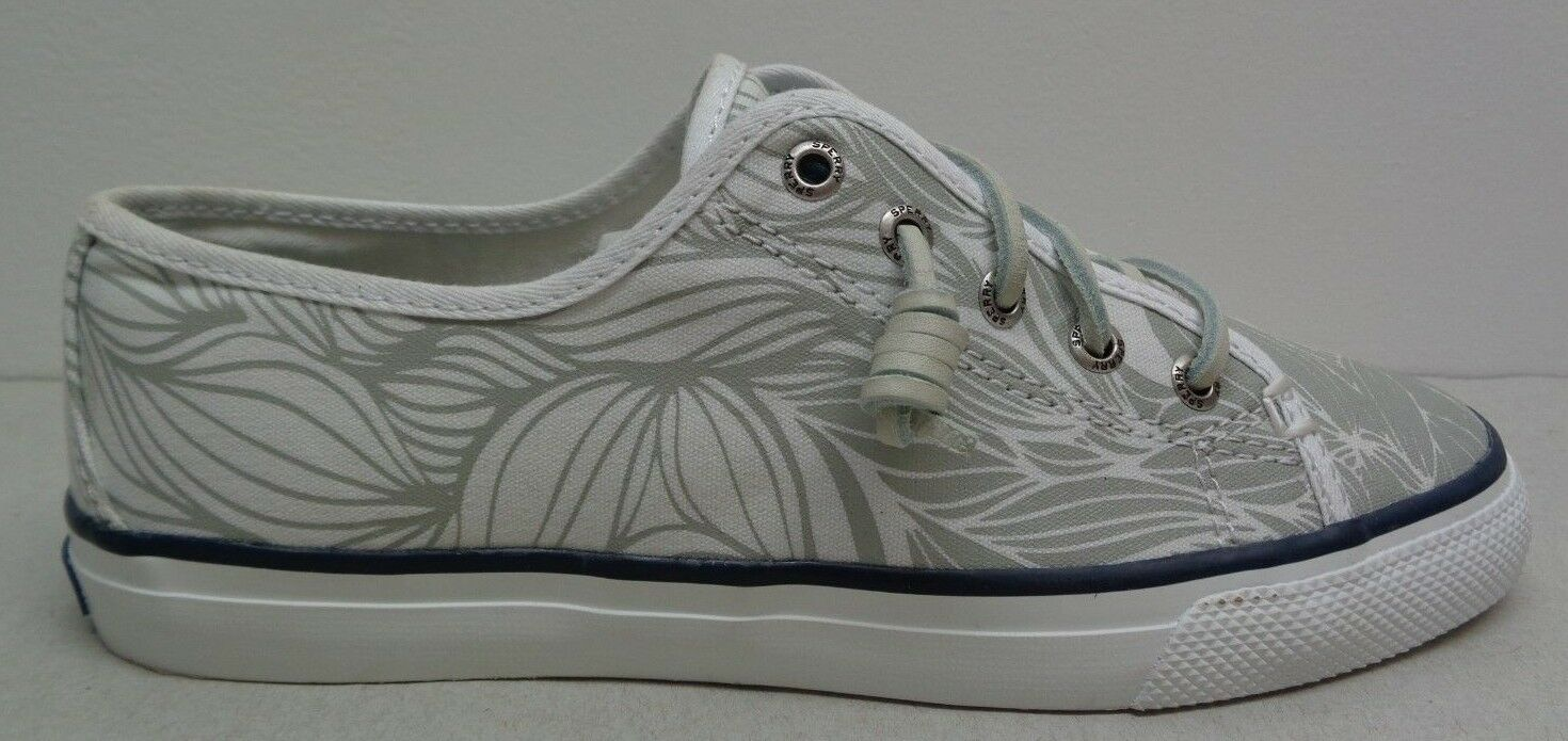 Sperry Size 6 SEACOAST OMBRE White Canvas Grey Canvas White Fashion  New Donna Shoes c3db7f