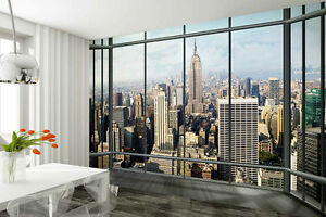 Wall mural wallpaper 315x232cm New York Penthouse - view from ...