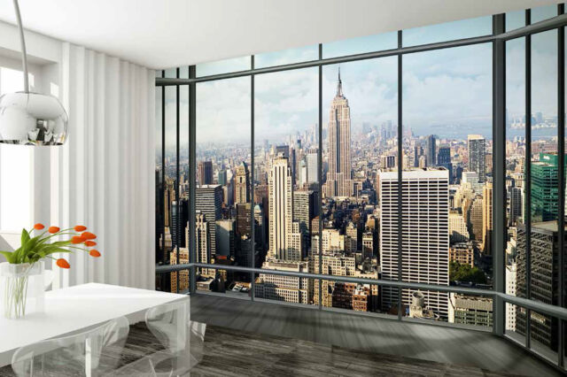 Wall Mural Wallpaper 315x232cm New York View From Window Decor Paper