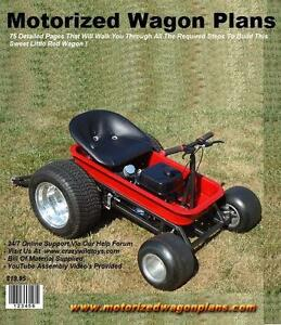 Details about Motorized Wagon Gokart Plans