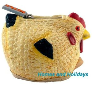 FREE US SHIP Rubber Silicone CHICKEN (Hen Rooster) Coin Purse Pouch / Case / Bag