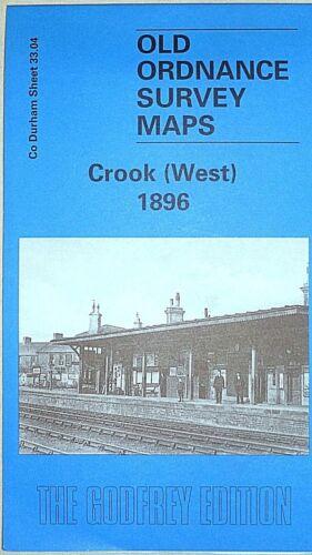 West Old Ordnance Survey Maps Historic Town Crook nr Durham 1896 Sheet 33.04