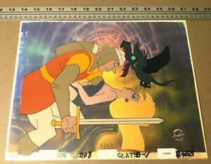 Dragon-039-s-Lair-II-Time-Warp-Production-Cel-Dirk-Daphne-Don-Bluth-animation