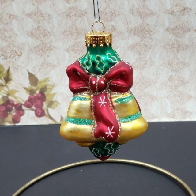 Christmas Bell Glass Small Ornament   eBay
