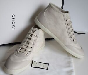 Details about GUCCI Women\u0027s Shoes Sneakers Canvas leather white size EU  40,5 UK 7,5 US 9,5