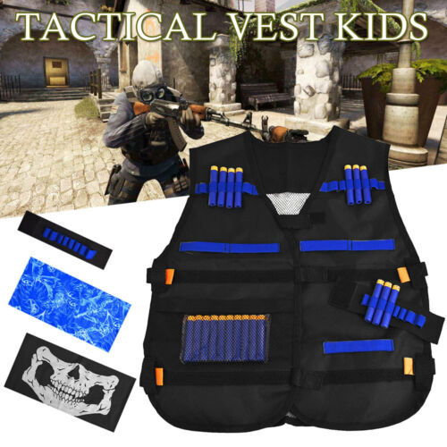 Kids Children Elite Tactical Combat Assault Army Military Hunting Vest CS Game W