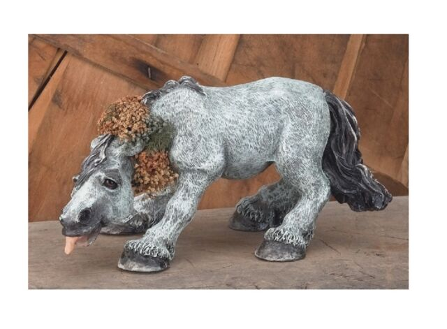 HORSE FIGURINE--Grey Silly Horse with Tongue Sticking Out #2331
