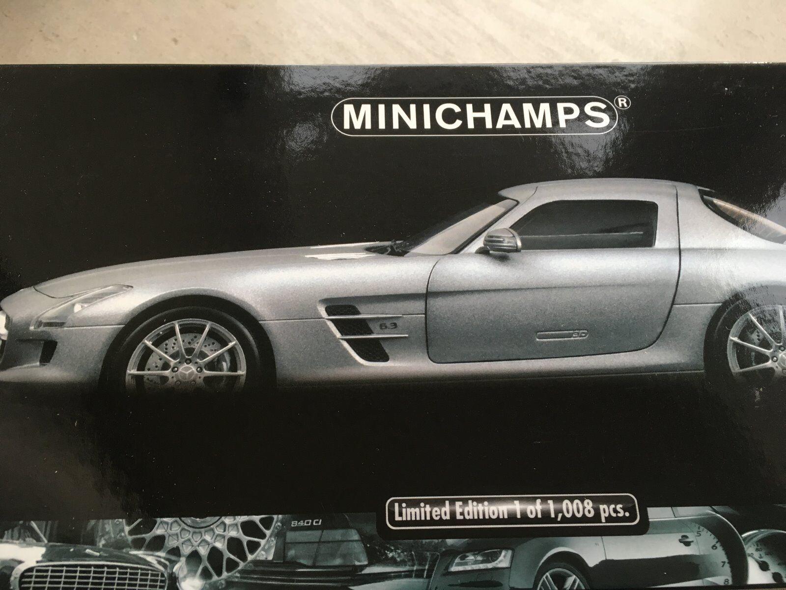 Mercedes sls amg minichamps 1 18 matt Plata