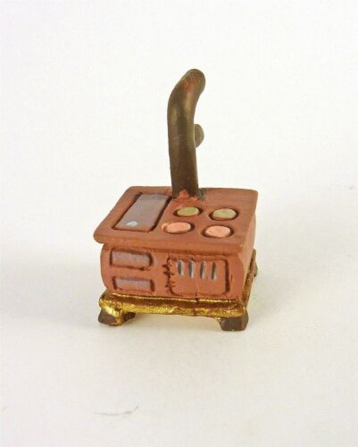 Dollhouse Miniature Quarter Scale 1:48 Cook Stove with Pipe MA9221