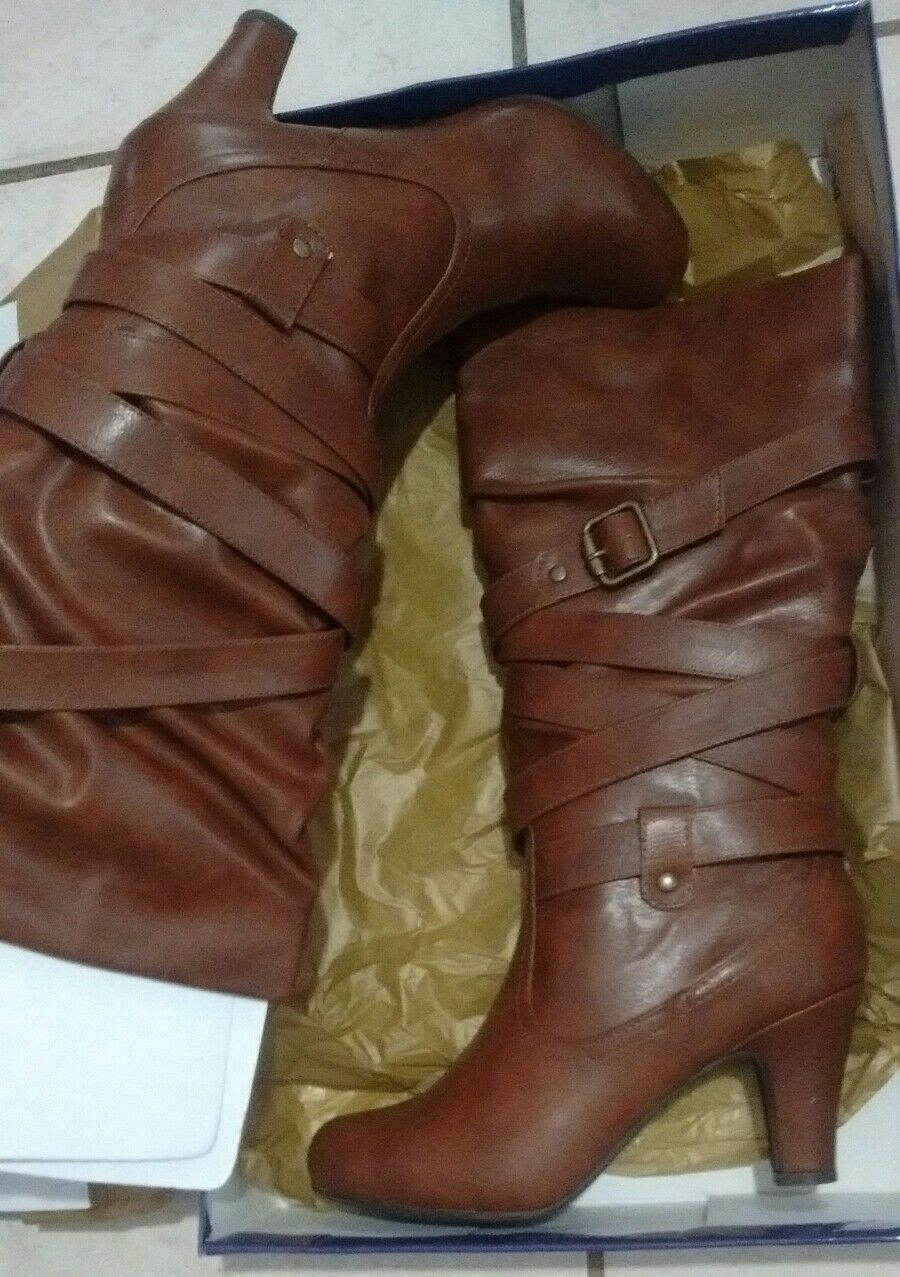 NWT NIB Womens Steve Madden 8.5 Brown High Boots size 8.5 Madden 153d9f