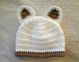 Handmade Hand Crocheted Baby Unisex Beanie Hat With Ears Various