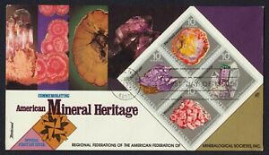 #1541a 10c Mineral Heritage, Fleetwood FDC Cualquier 4=