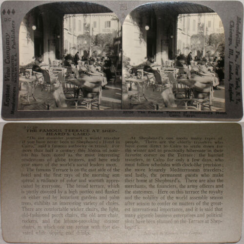 Egypt From 600//1200 Card Set #756 Keystone Stereoview Shepherd's Hotel Cairo