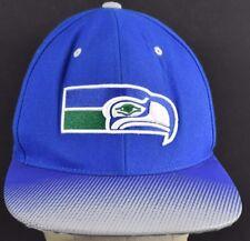 99de3e1a7ca15 Blue Seattle Seahawks Team Logo Embroidered baseball hat cap adjustable  Snapback