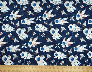 Timeless-Treasures-Astronauts-Allover-C5120-100-cotton-fabric-by-the-yard