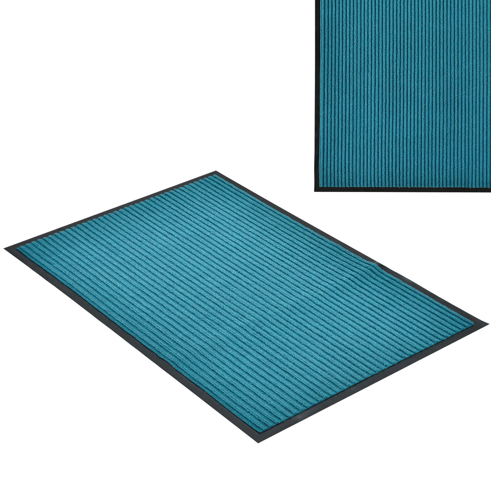 [en.casa]® Zerbino tappeto turchese 180x120cm tappetino stuoino tappeto Zerbino antiscivolo 94db5d
