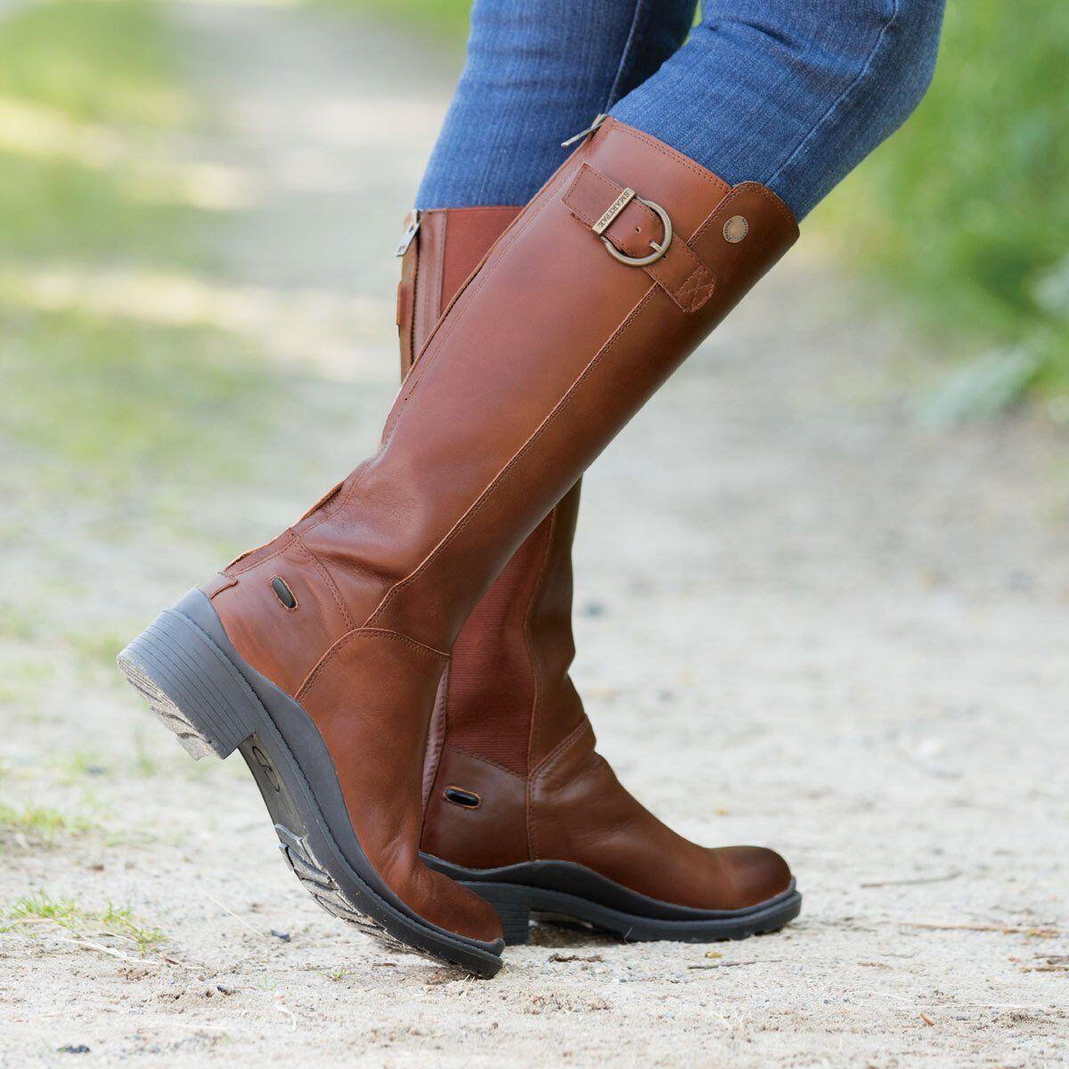 Nuevas  botas Hebilla De Cuero Alto smartpak 7 Negro  precios bajos