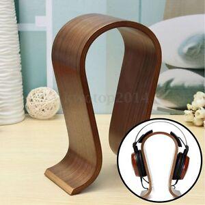 Wooden-U-shape-Display-Stand-Hanger-Holder-Rack-for-Headset-Earphone-Headphone