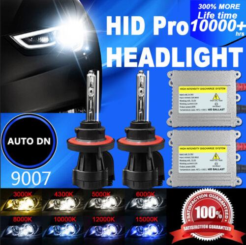 2x Conversion Kit HID Light Bulb Dual Beam Bi-Xenon 9007 Headlight DSV 55W Hi-Lo