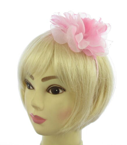 choice of 4  colours lage chiffon flower fascinator hair bands