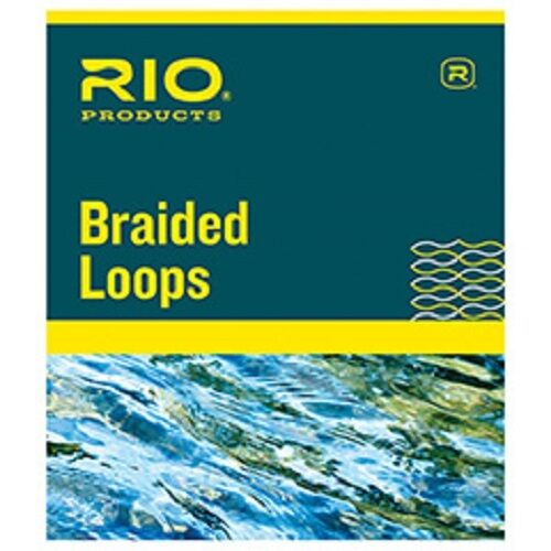 NEUF RIO Tressée Boucles Pack 4 avec Tuyau de grandes lignes 7-12 fixer Support LIGNE MOUCHE