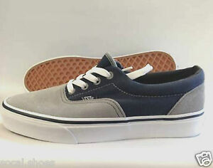 f7ed7dc6a7 VANS ERA Men s Skate Shoes GRAY   GREY NAVY BLUE Suede with Canvas ...