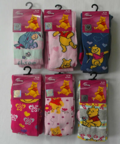 DISNEY Winnie The Pooh Tights for ages 3-4 Years; 5-6 Years; 7-8 Years