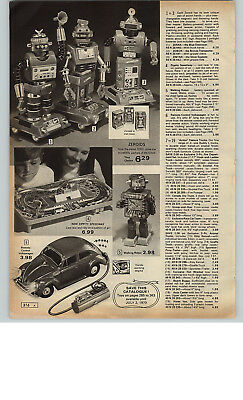 1971 PAPER AD 3 PG Toy Ding A Ling Robots King RC Police Motorcycle Dune Buggy