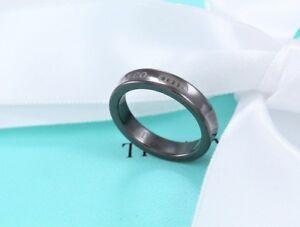 3c45f5670 RARE Tiffany & Co 1837 Black Titanium Stacking Band Love Ring Size ...