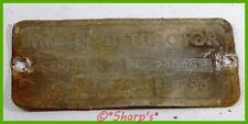 John Deere Unstyled B Serial Number Tag Sn 24045 Rear Steel Free Archive
