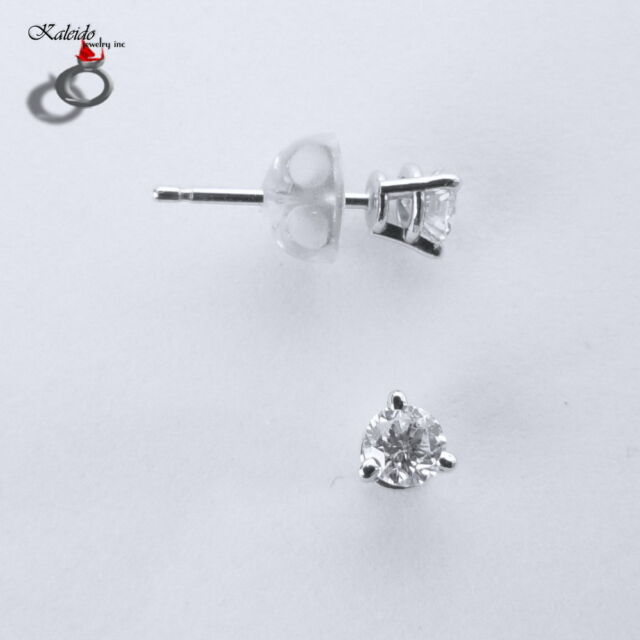0.05ctw Round Brilliant Cut Canadian Diamond Stud Earrings