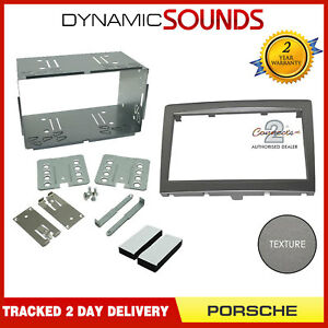 CT23PO03-Double-Din-Anthracite-Facia-Adapter-For-Porsche-Cayman-987-2005-2009