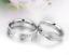 Coppia-Fedine-Fidanzamento-Acciaio-Anelli-Uomo-Donna-Love-Incisione-Nome-data miniatura 3