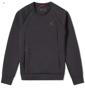 Sur Tech 879495 Détails Sweat 010 ShirtblackXl Neuf Nike Le Flight ~ Afficher Jordan Titre D'origine Crew Air rdBeWQCoEx