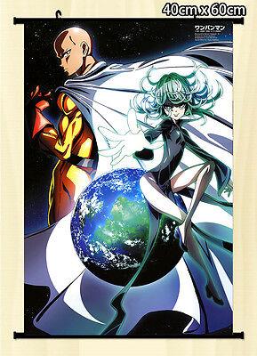 Wall Scroll One Punch Man saitama Tatsumaki Japan Anime Poster