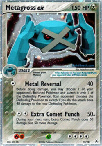 1x - Metagross-EX - 95/101 - Holo Rare EX DMG Pokemon EX Hidden Legends