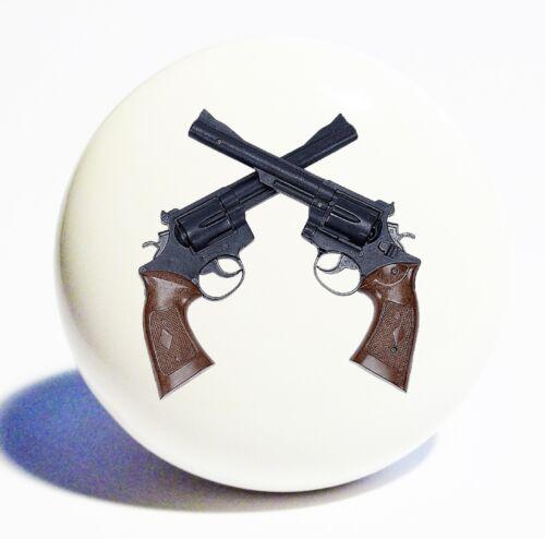 WESTERN SIX SHOOTER GUNS  HOME DECOR CERAMIC KNOB DRAWER CABINET PULL