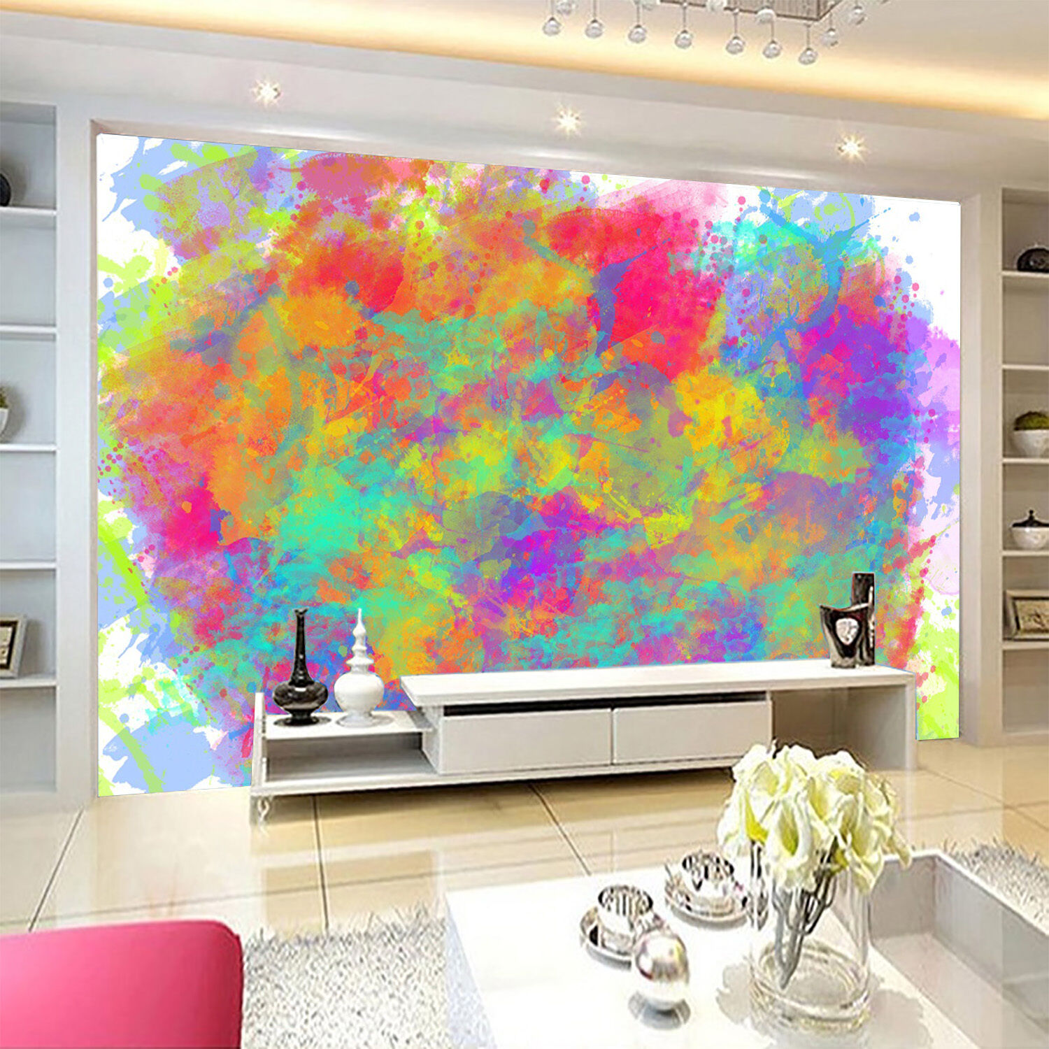 3D mash up Colour Graffiti Wall Paper Print Decal Wall Deco Indoor wall Mural