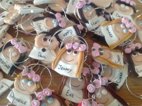 Wedding favours Wine Glass Charms Handmade Personalised Wedding Hen Night