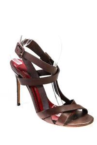 CH Carolina Herrera Womens Open Toe Ankle Strap Sandals Brown Size 40