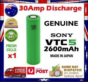 1x-Sony-US18650-VTC5-2600mAh-HIGH-CURRENT-30-Amp-Rechargeable-Battery-HIGH-DRAIN