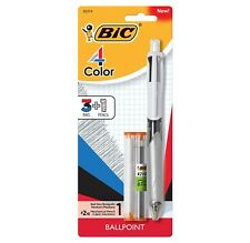 Bic 4 Color 31 Ball Pen And Pencil With Leads And Erasers 1 Pen