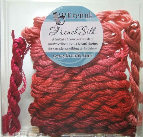 Red Kreinik Limited Edition French Silk Embroidery Floss Assortment