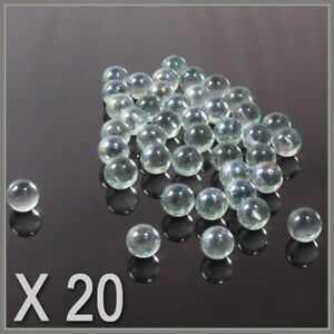 20-CLEAR-SMALL-PLAYING-MARBLES-natural-glass-colour-glass-marbles