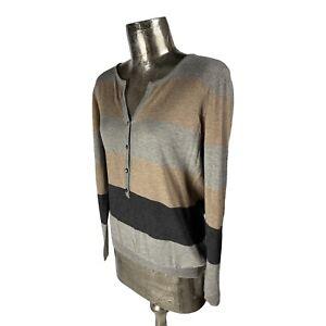 Fransa Multicolour Long Sleeve Top T-Shirt NEW UK L 16 (EU44) Women's RRP £40