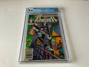 PUNISHER 1 CGC 9.6 WHITE PAGES NEWSSTAND NEWS STAND MARVEL COMICS 1987